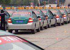 江西上饶市全市出租车LED顶灯项目全部完成